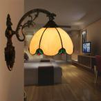 壁掛け照明 ブラケットライト 照明 室内照明 レトロ 壁掛けライト 照明器具 玄関灯 ウォールライト 北欧 インテリア ステンドグラス アンティーク カフェ風