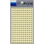 エーワン:カラーラベル 丸型5mm径 金 1P6シート(1080片) 07071 33433