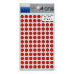 エーワン:カラーラベル 丸型9mm径 赤 1P14シート(1456片) 07001 33436