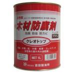 吉田製油所:油性木材防腐剤 クレオトップ 1L ブラウン