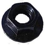(後払い不可)(代引不可)SHIKISHIMA:フランジナット 8×5mm ブラック バラ