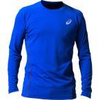 アシックス:ウィンジョブ ロング スリーブシャツ(空調服専用インナー) 400(アシックスブルー×ダークグレー) 3XL 2271A008