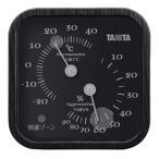 タニタ:温度計 木目調 ブラック TT570BK