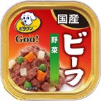 日本ペットフード:ビタワン グー ビーフ 野菜 100g 犬 ドッグフード 総合栄養食 ウェット トレイ トレー