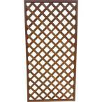 (代引不可)IRIS ラティス ブラウン 900×1800mm(1枚) W918 4378610 ガーデニング 園芸 柵 フェンス 建築資材