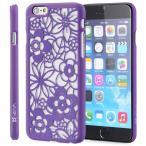 iPhone 6/iPhone 6Sケース わずか1.6mm超薄型ハードカバー 花柄フラワーアートデザイン ウルトラスリムフィットケースカバー FLORA Design Case