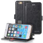 iPhone6/iPhone6 Plusカバー手帳型ケース  ビンテージ風PUレザーケース ウォレットケース カバーを閉じたまま通話可能 マグネット開閉 スタンド仕様  送料無料