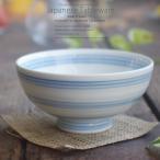 美味しいごはん 染付けブルーライン飯茶碗 強化磁器 和食器