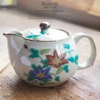 九谷焼 ティーポット 急須 カテキンたっぷり緑茶 鉄仙 茶漉し付き お茶 紅茶 和食器 食器 日本製