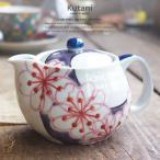 九谷焼 ティーポット 急須 白い食器 赤絵花文 茶漉し付き お茶 紅茶 和食器 食器 日本製