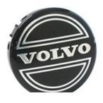ボルボ VOLVO 240 純正ホイールセンターキャップ(ブラック)4個セット