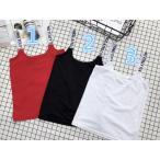 ショッピングキャミソール キャミソール 韓国子供服 肩ロゴテープ 韓国系ファッション キッズ 女の子