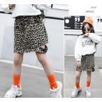 スカート 韓国系子供服 キッズ 女の子 2020 春 夏 ヒョウ柄 レオパード アニマル サイドカット 前後ポケット付き