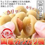 お徳用大粒カリカリ梅500g 国産豊後梅100%使用 無着色 3セットで送料無料
