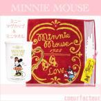 ミニー 蓋付きマグカップ ミニタオル ディズニーセット ミニーマウス