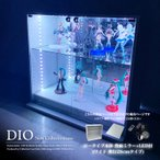 コレクションラック DIO 本体 ワイド ロータイプ 中型 背面ミラー+RGB対応LED付き