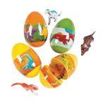 イースターエッグ プラスチック グッズ  恐竜が中に入った卵 7.6cm 12個セット たまご イースター 雑貨
