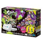 Wii U 本体 スプラトゥーン セット (amiibo アオリ・ホタル付き) 付属品欠品あり【管理:463038】