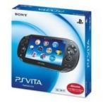 PS Vita 本体 3G/Wi‐Fiモデル クリスタル・ブラック (初回限定版) (PCH-1100 AA01)※画面・本体傷有のため特価 (管理:470001)
