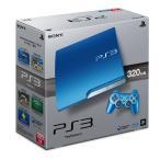 PS3 プレステ3 本体 スプラッシュブルー 320GB  (CECH-3000BSB) (管理:461040)