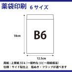 薬袋B6サイズ 12.5×18cm  3000枚