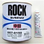 【硬化剤付セット】ロックペイント ロックポリパテ 中目 薄付け用 主剤1kg+硬化剤20g 057-0150set