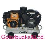 【代引不可】アネスト岩田 オイルコンプレッサー 双胴型 ガソリンエンジン 5馬力 15L PLUE37B-10