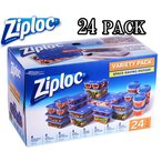 ★Ziploc★コンテナー/8種類/24PACKバラエティーセット★ジップロック タッパー 24個 保存 冷凍 業務用 大容量