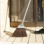 ほうき 化繊箒 短柄 全長約74cm ( 掃き掃除 清掃 屋外 )