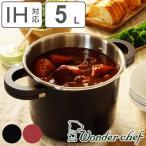 ショッピング圧力鍋 Wonder chef ワンダーシェフ 圧力鍋 オースプラス 20cm 5L IH対応 ( 送料無料 両手鍋 ガス火対応 レシピ本付き 切り替え式 )