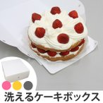 ケーキボックス ケーキ型 フラット 18cm用 プレーン 日本製 ( お菓子 ラッピング デコレーションケーキ 箱 製菓グッズ )