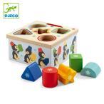型はめ 木製 ジオ ピンギー 木のおもちゃ おもちゃ 知育玩具 ジェコ DJECO ( 型はめパズル 5ピース 幼児 ペンギン )
