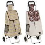 ショッピングカート 大容量 折りたたみ アルミ製 バッグ付 ( カート 折り畳み 2輪 アルミ キャリーカート )