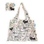 エコバッグ 2way Shopping Bag モノトーンドッグ デザイナーズ ( ショッピングバッグ 買い物バッグ マイバッグ エコバック )