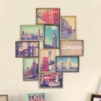 フォトフレーム L判 多面 10枚 壁掛け 写真立て ブリストル コラージュ ( フォトスタンド 写真フレーム 写真たて )