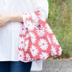 エコバッグ デザイナーズジャパン コンパクトバッグ 大きな白い花 折りたたみ 撥水 抗菌 ( マイバッグ エコバック 買い物バッグ レジ袋 レジバッグ )