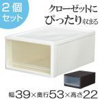 ショッピング 収納ボックス クローゼット用 ストラ M 同色2個セット ( 衣装ケース 収納ケース 引き出し )