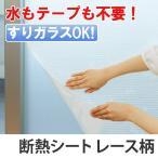 断熱シート マドピタシート スリガラス対応 レース ( 保温 結露防止 暖房効果 窓ガラス )