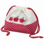 お弁当袋 ランチ巾着 りんご ( 給食袋 ランチボックス巾着 )