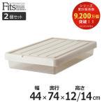 収納ケース Fits フィッツ フィッツケース スリムボックス74 フタ付き 2個セット ( 収納 隙間収納 すき間収納 すきま収納 )
