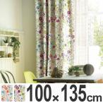 カーテン スミノエ ドレープカーテン Naturalplus フローラルガーデン 100x135cm ( タッセル 洗える 既製 )