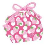 お弁当袋 ランチ巾着 Hanna Hula ハンナフラ いちご 子供用 ( 給食袋 ランチボックス巾着 )