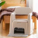 ポータブルトイレ 背もたれ型 ( 介護用トイレ 福祉