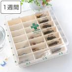 薬ケース お薬カレンダー ライフエイド くすり整理ボックス 1日3回タイプ 1週間分 ( 薬箱 薬入れ 整理ボックス )