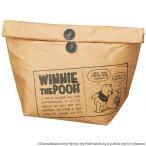 保冷ランチバッグ クラッチタイプ くまのプーさん ワックスペーパー風 キャラクター ( クラッチバッグ 保冷バッグ ランチバッグ )