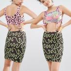 ショッピングmiddle エイソス ボディコンドレス レディース ASOS X MTV Clip Middle Bodycon Dress In Spliced Leopard Print イギリス ブランド ストレッチ シルバー ヒョウ柄 豹柄