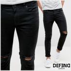 リバーアイランド River Island メンズ ボトムス ジーンズ River Island Skinny Fit Jeans With Rips In Black スキニー リップ
