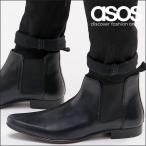 エイソス ブーツ メンズ ASOS Chelsea Boots in Leather エイソス ASOS チェルシー レザー