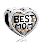Yahoo! Yahoo!ショッピング(ヤフー ショッピング)チャーム ブレスレット バングル用 CharmSStory チャームズストーリー Heart I Love Best Mom Mother Silver Plated Charm Beadss For Bracelets