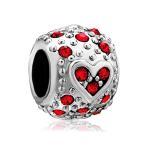 Yahoo! Yahoo!ショッピング(ヤフー ショッピング)チャーム ブレスレット バングル用 パンドラチャームと適合 LovelyJewelry ラブリージュエリー Bling Garnet Red Crystal Charm Beads For Bracelet